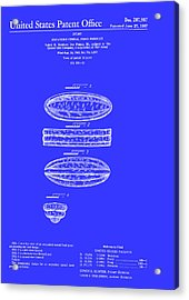 Quaker Oats Cereal Food Patent 1967 Acrylic Print
