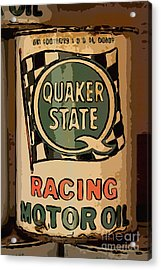 Quaker State Oil Can Acrylic Print