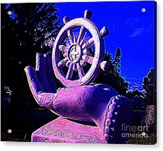 Acrylic Print featuring the photograph Buddhist Dharma Wheel 2 by Peter Gumaer Ogden