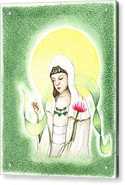 Quan Yin Acrylic Print by Keiko Katsuta