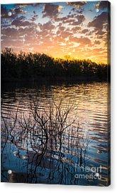 Quanah Parker Lake Sunrise Acrylic Print by Inge Johnsson