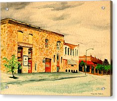 Acrylic Print featuring the painting Quantrill's Flea Market - Lawrence Kansas by Mary Ellen Anderson