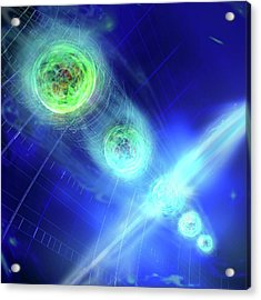 Quantum Entanglement Acrylic Print by Harald Ritsch