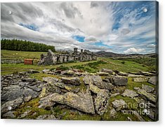 Quarry Cottages Acrylic Print by Adrian Evans