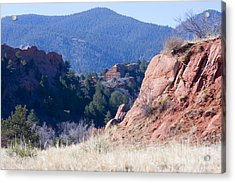 Quarry In Red Rocks Open Space Acrylic Print
