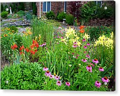 Acrylic Print featuring the photograph Quarter Circle Garden by Kathryn Meyer