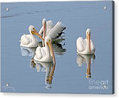 Quartet's Reflections Acrylic Print by Mariarosa Rockefeller