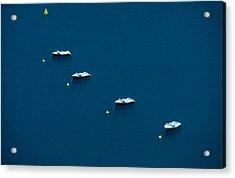 Quatre Petits Bateaux Acrylic Print by Kim Lessel