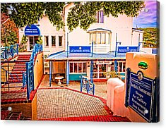 Quayside Hotel Of Simon's Town Acrylic Print by Cliff C Morris Jr