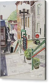 Quebec City Acrylic Print by Carol Flagg