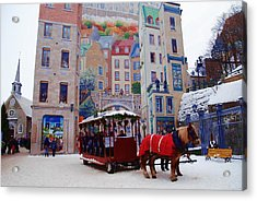 Quebec City Holiday Acrylic Print by Jacqueline M Lewis