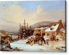 Quebec Acrylic Print by Cornelius Krieghoff