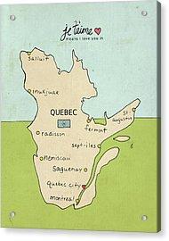 Quebec Acrylic Print by Lisa Barbero