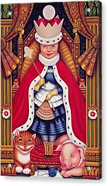 Queen Alice, 2008 Oil And Tempera On Panel Acrylic Print