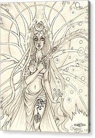 Queen Altheia Acrylic Print by Coriander  Shea