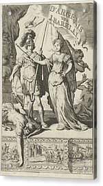 Queen And A Roman Soldier, Jan Luyken, Jan Claesz Ten Hoorn Acrylic Print by Jan Luyken And Jan Claesz Ten Hoorn