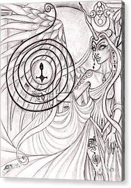 Queen Arianrhod Acrylic Print by Coriander  Shea