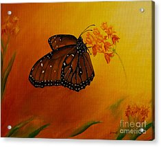 Queen Butterfly  Acrylic Print by Zina Stromberg