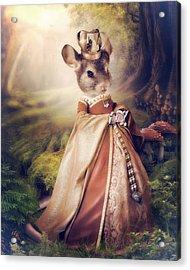 Queen Acrylic Print by Cindy Grundsten
