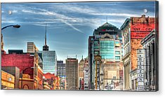 Queen City Downtown Acrylic Print by Michael Frank Jr