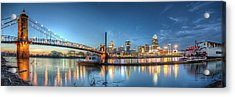 Queen City Panorama At Twilight Acrylic Print