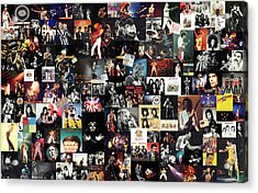 Queen Collage Acrylic Print by Taylan Apukovska