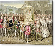Queen Elizabeth I In Procession Acrylic Print by Sarah Countess of Essex