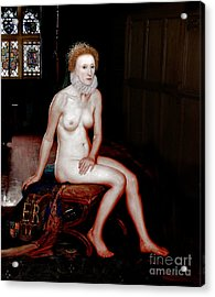 Queen Elizabeth I Seated Nude Acrylic Print