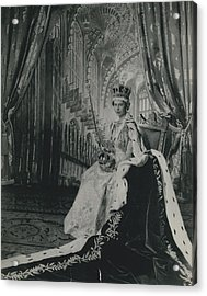 Queen Elizabeth II�in Throne Room Of Buckingham Palace After Her Coronation� Acrylic Print by Retro Images Archive