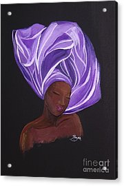 Acrylic Print featuring the painting Queen Esther by Barbara Hayes