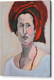 Queen Esther Acrylic Print by Esther Newman-Cohen