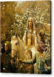 Queen Guinevere - Maying Acrylic Print by Pg Reproductions
