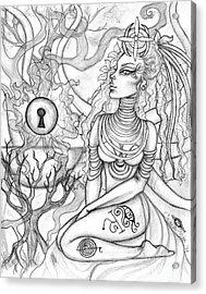 Queen Haelane Acrylic Print by Coriander  Shea