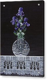 Queen Iris's Lace Acrylic Print