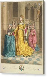 Queen Margaret Of Anjou Acrylic Print by British Library