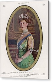 Queen Mary (1867 - 1953) Wearing Acrylic Print by Mary Evans Picture Library