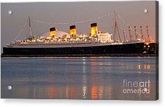 Queen Mary At Night Acrylic Print