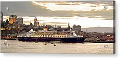Queen Mary II Cruise Ship, Chateau Acrylic Print by Jean Desy