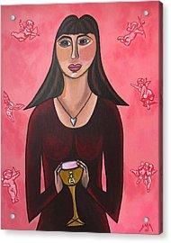 Queen Mary Magdalene - Grail Secrets Acrylic Print by Sandra Marie Adams