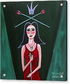 Queen Mary Magdalene Acrylic Print by Sandra Marie Adams