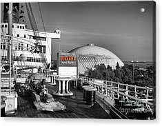 Queen Mary On Deck Acrylic Print by Mariola Bitner