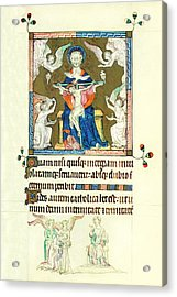 Queen Marys Psalter Trinity Acrylic Print by Anonymous