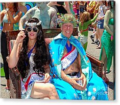 Acrylic Print featuring the photograph Queen Mermaid-king Neptune by Ed Weidman