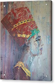 Queen Nefertiti Acrylic Print by John Henne