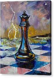 Queen Of Chess Acrylic Print by Michael Creese