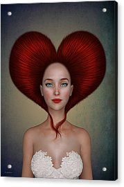 Queen Of Hearts Acrylic Print by Britta Glodde