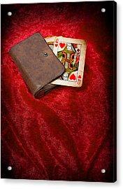 Queen Of Hearts Acrylic Print by Amanda Elwell
