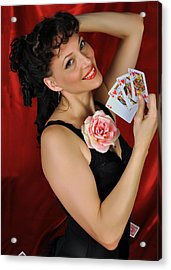 Acrylic Print featuring the photograph Queen Of Hearts by Jim Poulos