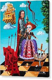 Queen Of Hearts. Part 1 Acrylic Print by Igor Postash