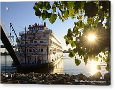 Queen Of The Mississippi Acrylic Print by Bob Petzinger